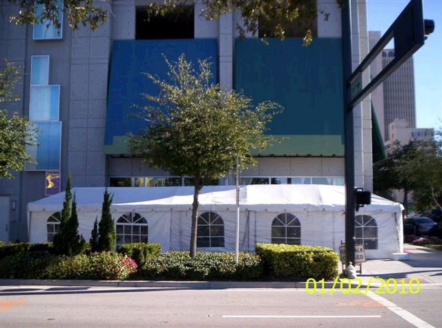 Where to find 10 x50  White frame tent in New Port Richey