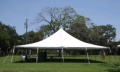 Rental store for 40 x40  White pole tent in Tampa Bay FL