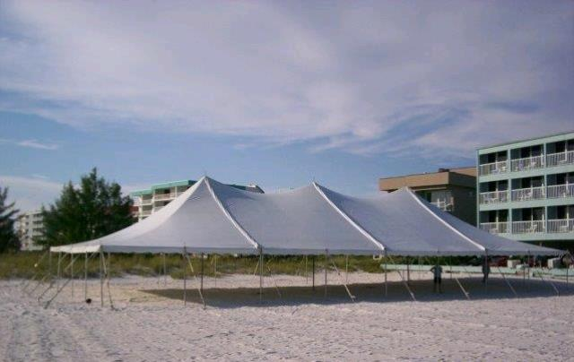 Where to find 40 x 80  BRILLIANT WHITE pole tent in New Port Richey