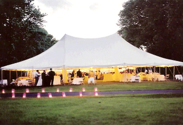 Where to find 40 x60  BRILLIANT WHITE pole tent in New Port Richey