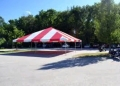 Where to rent 30 x40  Red   White frame tent in New Port Richey FL