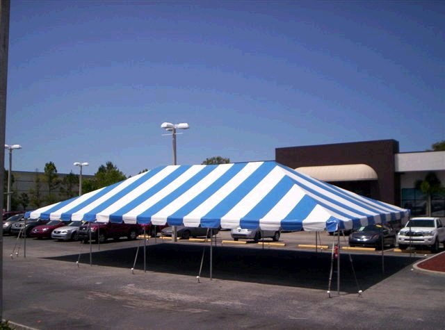 Where to find 30 x50  Blue White frame tent in New Port Richey