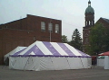 Where to rent 30 x 30  Purple   White Frame Tent in New Port Richey FL