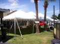 Rental store for 20 X40  Pole Tent customer set up in Tampa Bay FL