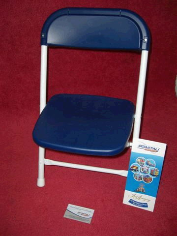 Where to find CHAIR, CHILD FOLDING BLUE WHT in New Port Richey