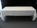 Rental store for LINEN  8  WHITE Banquet Table  60 X 108 in Tampa Bay FL