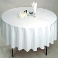 Where to rent LINEN 90  White Round Table in New Port Richey FL
