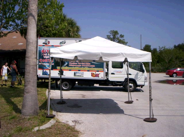 Where to find 10 x10  White frame tent in New Port Richey