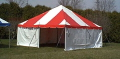 Rental store for 15 x15  Red  White frame tent in Tampa Bay FL