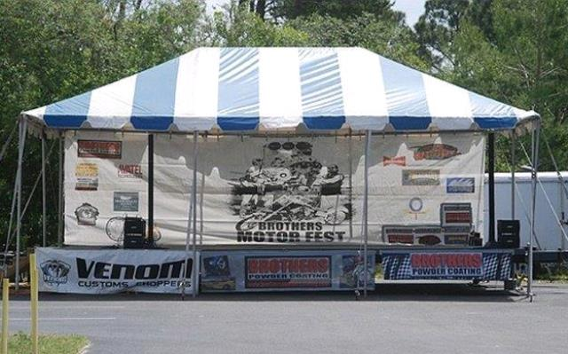 Where to find 20 x30  Blue White frame tent in New Port Richey
