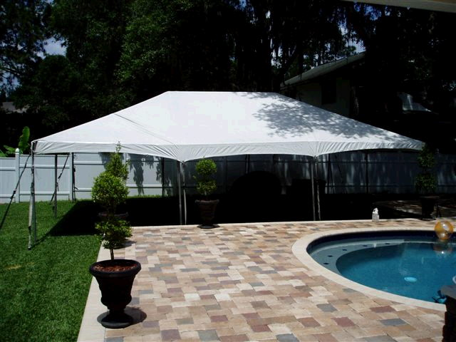 Where to find 20 x30  White frame tent A in New Port Richey
