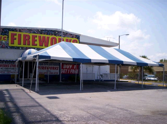 20 Foot X40 Foot Blue White Frame Tent Rentals Tampa Bay