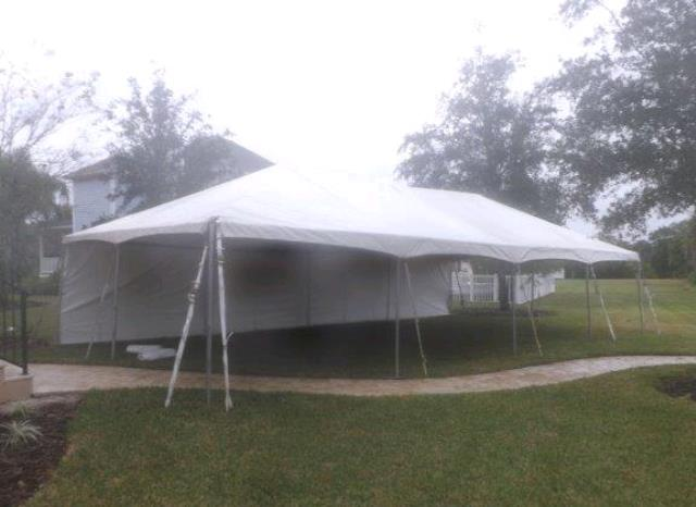 20 Foot X40 Foot White Frame Tent Rentals Tampa Bay Fl