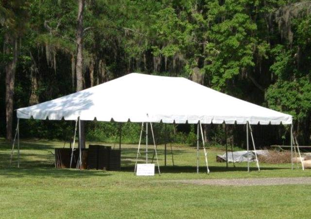 Where to find 20 x40  White frame tent in New Port Richey
