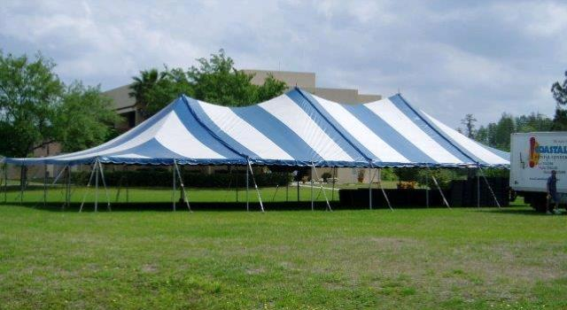 Where to find 40 x80  Blue White pole tent in New Port Richey