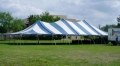 Rental store for 40 x80  Blue White pole tent in Tampa Bay FL