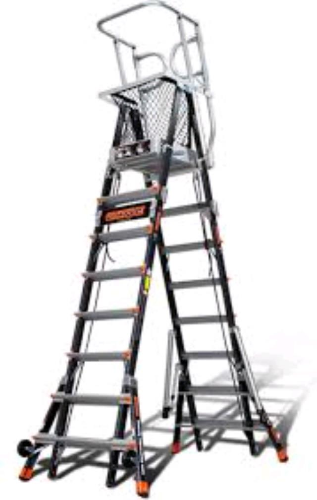 Platform Cage Ladder 19 Foot Working Height Rentals Tampa