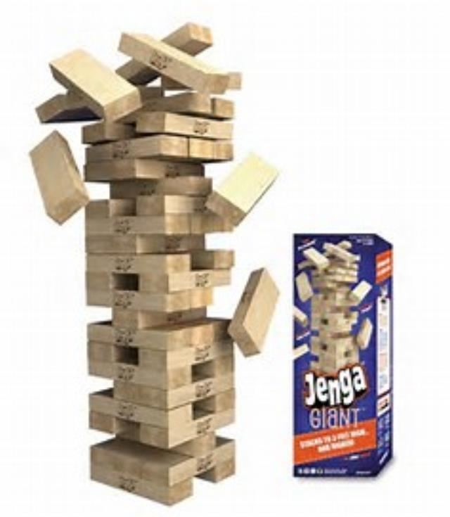 Where to find JENGA   GIANT TUMBLE TOWER 5  tall in Tampa Bay